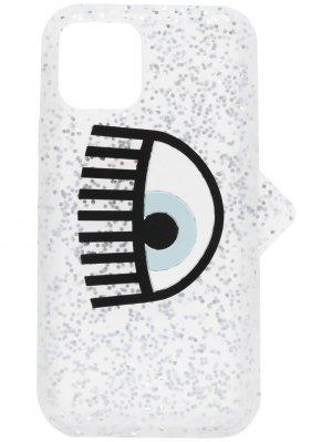 Чехол для iPhone 11 Pro с блестками Chiara Ferragni. Цвет: серебристый