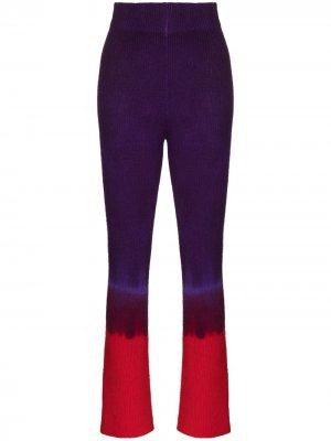 Трикотажные брюки с принтом тай-дай The Elder Statesman. Цвет: фиолетовый