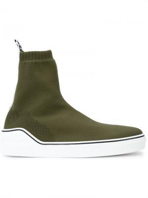 Кроссовки-носки Givenchy. Цвет: зеленый