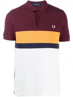 Рубашка поло с вышитым логотипом Fred Perry. Цвет: фиолетовый