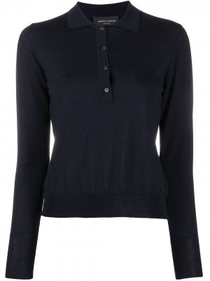 Рубашка поло в рубчик Roberto Collina. Цвет: синий