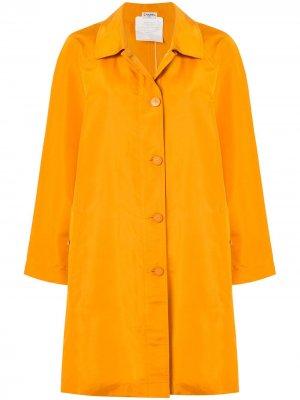 Куртка с логотипом CC Chanel Pre-Owned. Цвет: желтый
