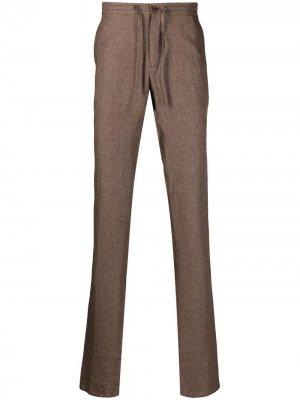 Фактурные брюки с кулиской Loro Piana. Цвет: коричневый