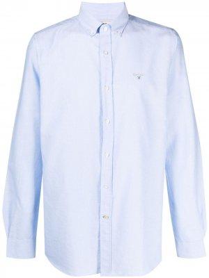 Рубашка с вышитым логотипом Barbour. Цвет: синий