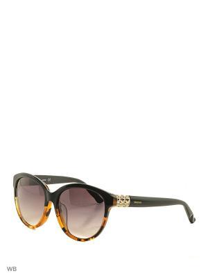 Солнцезащитные очки SK 0089F 05B Swarovski. Цвет: черный, золотистый, коричневый