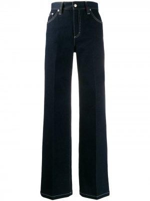 Расклешенные джинсы с декоративной строчкой Chloé. Цвет: синий