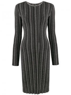 Striped sweater dress Antonino Valenti. Цвет: черный