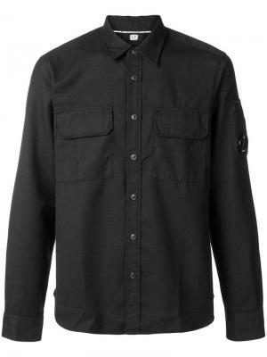 Рубашка с деталью в виде линзы CP Company. Цвет: черный