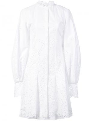 Broderie anglaise shirt dress Oscar de la Renta. Цвет: белый