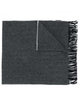 Трикотажный шарф с бахромой Canada Goose. Цвет: черный