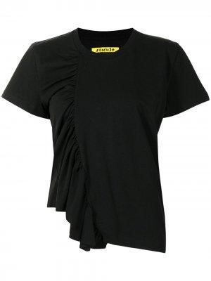 MarquesAlmeida футболка Gathered Marques'Almeida. Цвет: черный