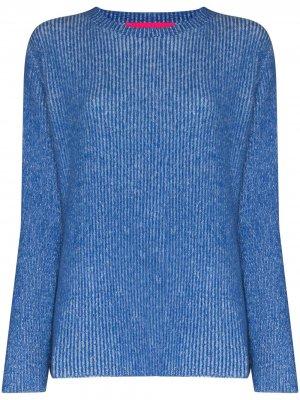 Кашемировый свитер в рубчик The Elder Statesman. Цвет: синий