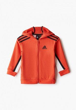Толстовка adidas. Цвет: оранжевый
