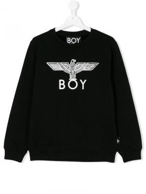 Толстовка с принтом логотипа Boy London Kids. Цвет: черный