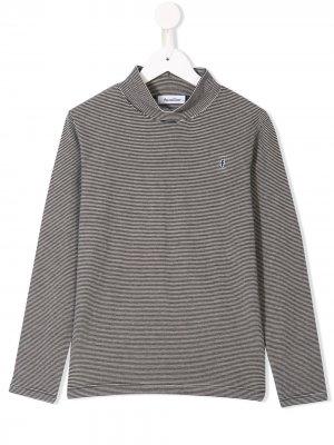 Striped turtle-neck sweater Familiar. Цвет: черный