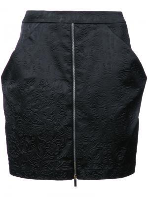 Мини-юбка Spiderweb Thomas Wylde. Цвет: черный