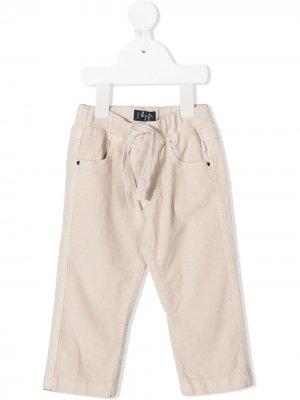 Вельветовые брюки с кулиской Il Gufo. Цвет: нейтральные цвета