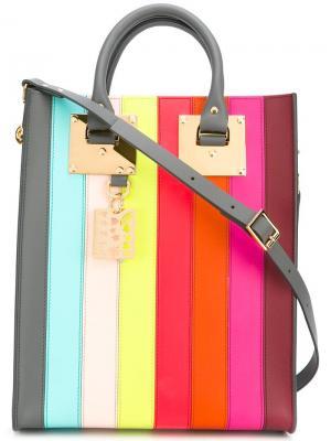Сумка-тоут Rainbow Sophie Hulme. Цвет: многоцветный