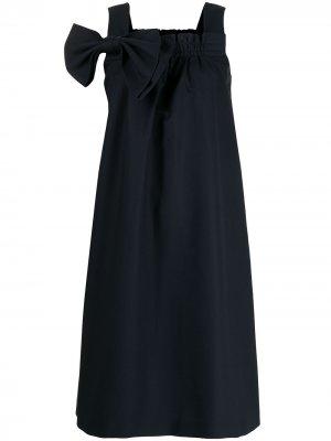 Платье с бантом Dice Kayek. Цвет: синий