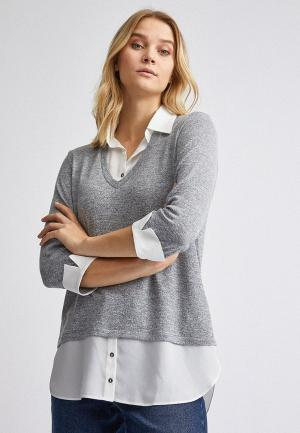 Блуза Dorothy Perkins. Цвет: серый