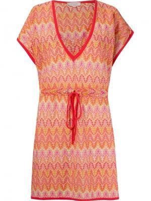 Трикотажное пляжное платье Brigitte. Цвет: желтый