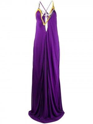 Вечернее платье с вышивкой Emilio Pucci. Цвет: фиолетовый