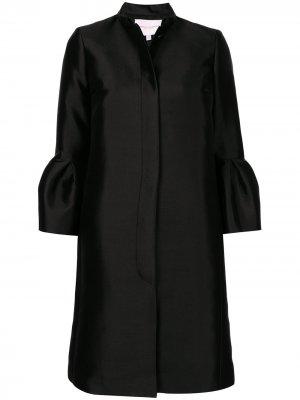 Пальто оверсайз длины миди Carolina Herrera. Цвет: черный