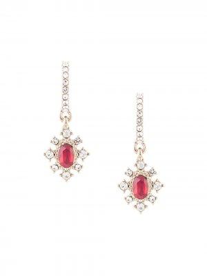 Серьги-подвески с кристаллами Marchesa Notte. Цвет: красный