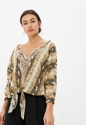 Блуза Soky & Soka. Цвет: коричневый
