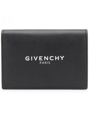 Бумажник с логотипом Givenchy. Цвет: черный