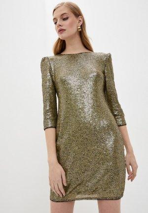 Платье DKNY. Цвет: золотой
