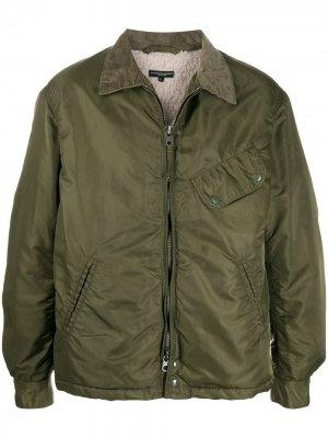 Легкая куртка на молнии Engineered Garments. Цвет: зеленый