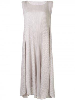 Плиссированное платье миди без рукавов Pleats Please Issey Miyake. Цвет: серый