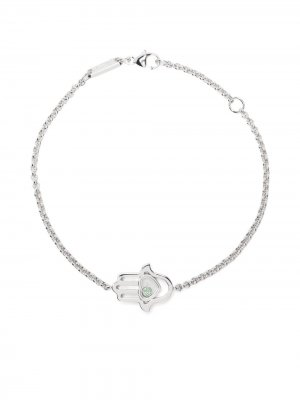Браслет Good Luck Charms из белого золота с бриллиантами Chopard. Цвет: серебристый