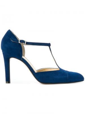 Туфли с T-образным ремешком Antonio Barbato. Цвет: синий