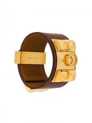 Браслет Collier de Chien Hermès Vintage. Цвет: коричневый