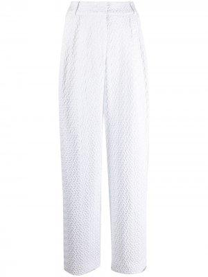 Прямые брюки с геометричным узором Emporio Armani. Цвет: белый