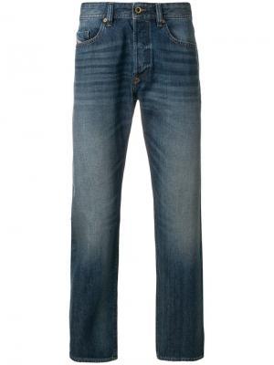 Зауженные джинсы Buster Diesel. Цвет: синий