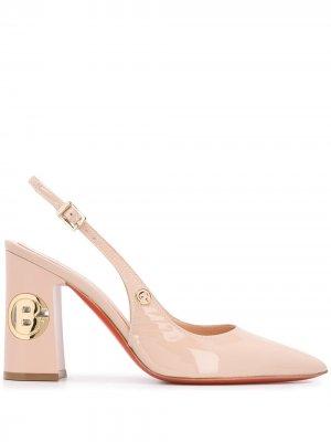 Туфли-лодочки с логотипом Baldinini. Цвет: нейтральные цвета