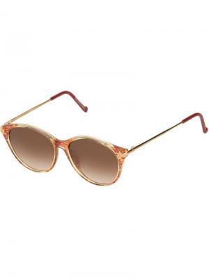 Круглые солнцезащитные очки Christian Lacroix Vintage. Цвет: желтый