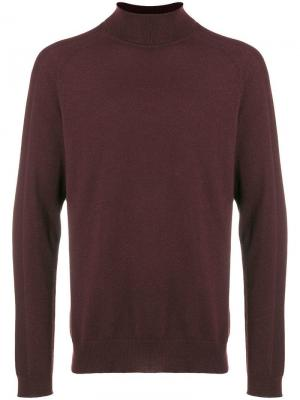 High neck knit sweater Falke. Цвет: красный