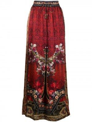 Прямые брюки Camilla. Цвет: красный