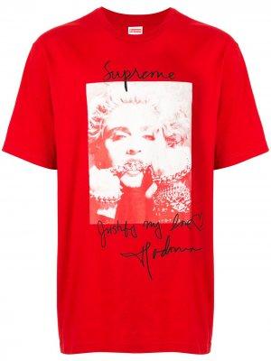 Футболка Madonna Supreme. Цвет: красный