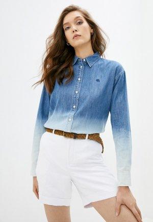 Рубашка джинсовая Lauren Ralph. Цвет: синий