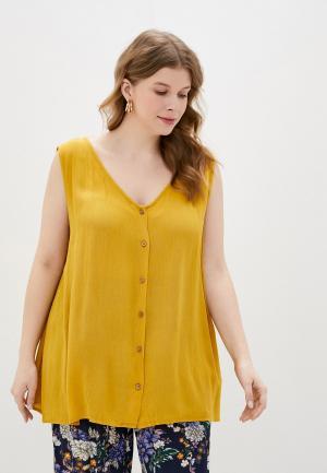 Блуза Only Carmakoma. Цвет: желтый