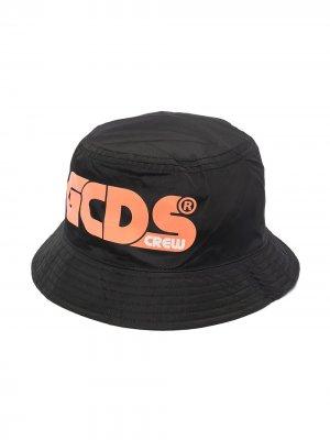 Панама с логотипом Gcds Kids. Цвет: черный
