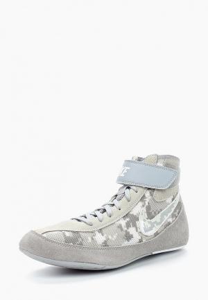 Борцовки Nike. Цвет: серый