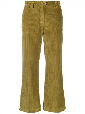 Укороченные вельветовые брюки Baum Und Pferdgarten. Цвет: зеленый