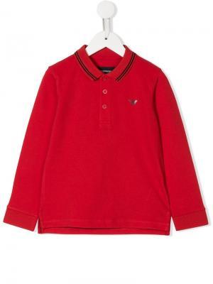 Рубашка-поло Emporio Armani Kids. Цвет: красный