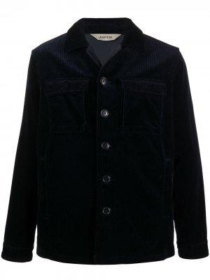 Вельветовая куртка-рубашка Aspesi. Цвет: синий